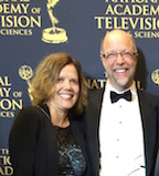 Brad and Gaye at 2015 Emmys