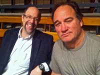 Brad with Jim Belushi