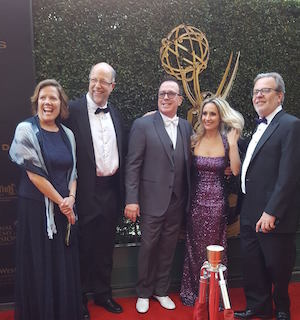 Brad and Gaye at 2016 Emmys